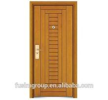 High quality Steel wooden door swing open style