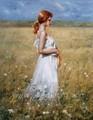 100% artesanal mulher figura pintura a óleo sobre tela para deocration casa