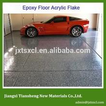 garage flake floor Home Gallery Residential Interior Flooring Interior Decorative Concrete