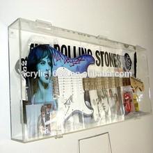 Customized clear acrylic guitar display case