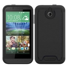 Football Pattern Hybrid Silicone and PC Protective Rugged Case for HTC Desire 510