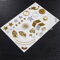 Flash del tatuaje de oro y de plata temporal metálico etiquetas engomadas del tatuaje