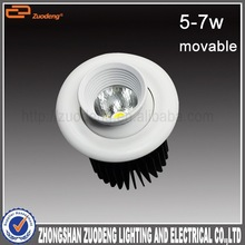 wholesale meeting room 360 degree 2.5inch 7w fire rated cob lighting