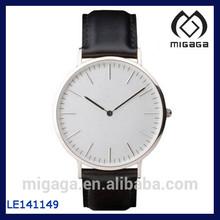 Fashion simple and elegant design nice customer design wristwatches for men