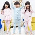 Tz-1810 venta al por mayor de moda de invierno los niños ropa de niño ropa de niños de color de bebé de algodón pijama conjuntos de ropa interior
