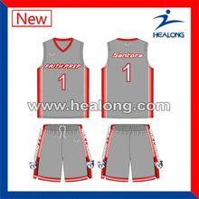 Healong Digital Sublimation Plain Basketball Throwback Jerseys