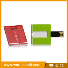 In stock mini card shape usb memory stick, full capacity