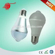 2014 nouveau design 7 W e27 / e26 / b22 pir led infrarouge ampoule avec détecteur de mouvement