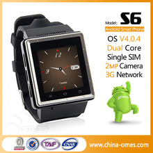 Christmas Gift 1.54 inch mtk6577 3G WIFI GPS Wrist TV Watch Mobile
