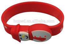 wholesale alibaba 2014 Christmas usb disk, Christmas bracelet gift usb memory bulk buy from china