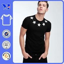 Star pattern 92% polyester 8% spandex mens t-shirt