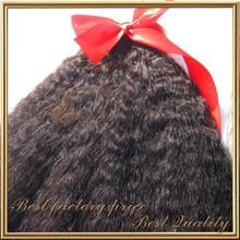 2014 hot selling high quality Peruvian virgin Hair Kinky Straight Coarse Yaki Hair Weave in stock on sale
