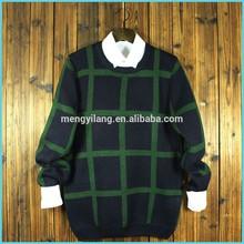 China supplier wholesale new design plaid man dress sweater high quanlity man dress clothing Christmas man dress sweater