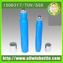 glass plastic roll on bottle for ocean blue perfume