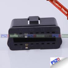 china custom molded round 4-pin power plug
