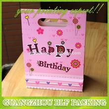 (BLF-PB316)Pink birthday gift paper bag packaging bag