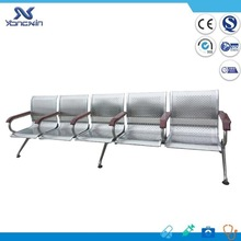 Cheap steel tube frame plastic seat hospital waiting chair YXZ-036B
