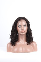 20inch wholesale Top Fashion stock big bottom curl indian human hair wig