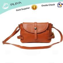 Latest Fashional Brown Leather Messenger Bag, Long Strap Shoulder Bag for girls