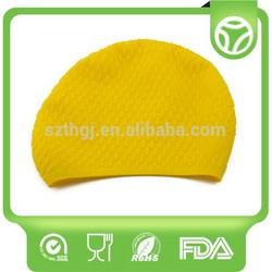 High quality best selling silicone ear swim caps swim hats