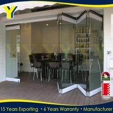 Factory wholesale SYD/NYC/LON popular style Australian standards double glazing thermal break Bi Fold Folding Doors
