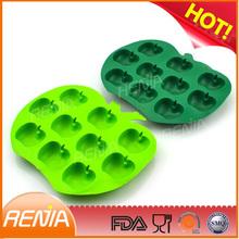 RENJIA iced fruit cake,silicon fruit ice tray,silicone apple tray