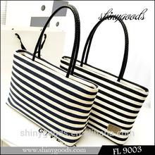 2014 stylish canvas tote bag FL9003, bag women wholesale