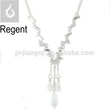 Fancy shiny gemstone necklace silver fashion Fancy shiny gemstone necklace silver fashion crystal necklace
