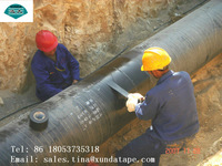 High adhesion polyethylene pipe anti corrosion wrap tape