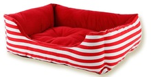 2015 New Pet product Stripes Canvas rectangle Pet Dog Bed