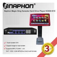 Naphon KTV Karaoke System touch screen KOD-8H+S19 hard drive karaoke player chinese karaoke machine with songs