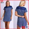 China supplier wholesale stripe design short sleeve short dress latest dress designs photos