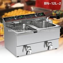 2 x 8L Double Tanks Chicken Deep Fryer Machine (KFC Restaurant Equipment For Sale)