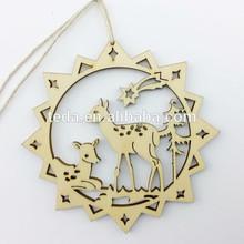 2015Teda SD-027 Arts&craft Stock handmade star shape Mini Deer decorative Chrismas Tree hanging art and craft