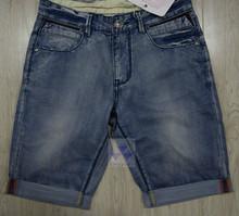 men short denim customized mid blue