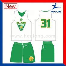 Healong Custom Design Digital Toddler Basketball Jersey Oem