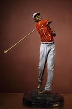 BA-602B new design bronze golf player figurine small sports brass figurine