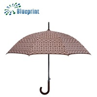 Culture promo items full print wooden straight umbrella