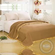 king size china wholesale 100% organic cotton life comfort purple blankets