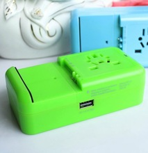 2014 top sale high quality world travel adapter wedding favor gift towel cake