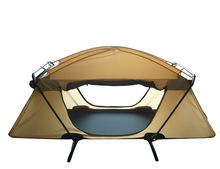 brown color lightweight double layers military sleeping camping tent with bed