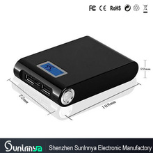 High Conversion Rate! Portable 12000mah power bank with lcd monitor