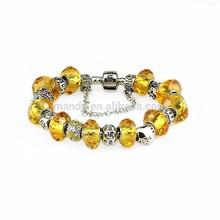 wholesale gold crystal bracelet 2015 popular silver handmade murano bracelet for Christmas gift