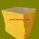 Anti-UV and abrasion proof UHMW-PE board / HDPE board / Yellow color PE fender board