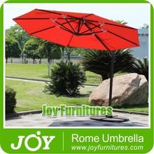 Red Offset Square Steel Umbrella