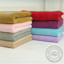 Nonwoven wholesale 100% organic cotton satin binding fleece baby embroidery blanket