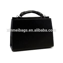Tmall wholesale cheap Personalized black pu high Quality Leather Handbag meseenger bag