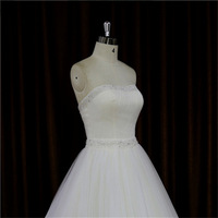 cap sleeve chiffon corset back ballet dress style wedding dress