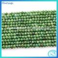 Natural hsq-0580 facetas ronda cuentas de jade teñido de materia prima para la joyería