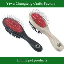 Dog Brush with wooden handle, colors available